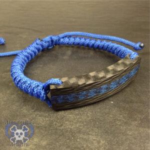 blue carbon fiber bracelet