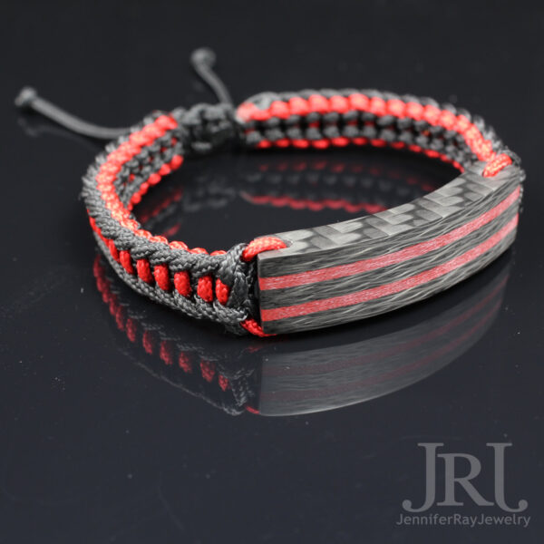 red stripes carbon fiber
