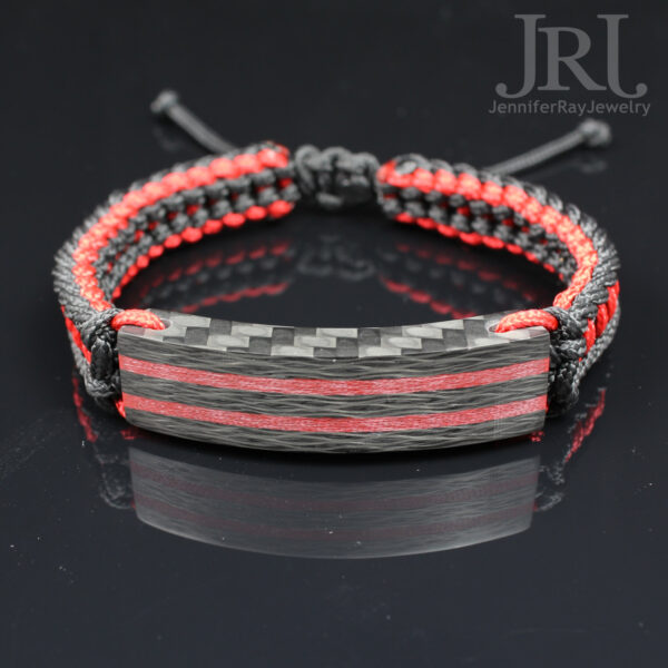 double red carbon bracelet