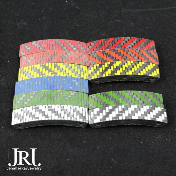 colored carbon fiber bracelet