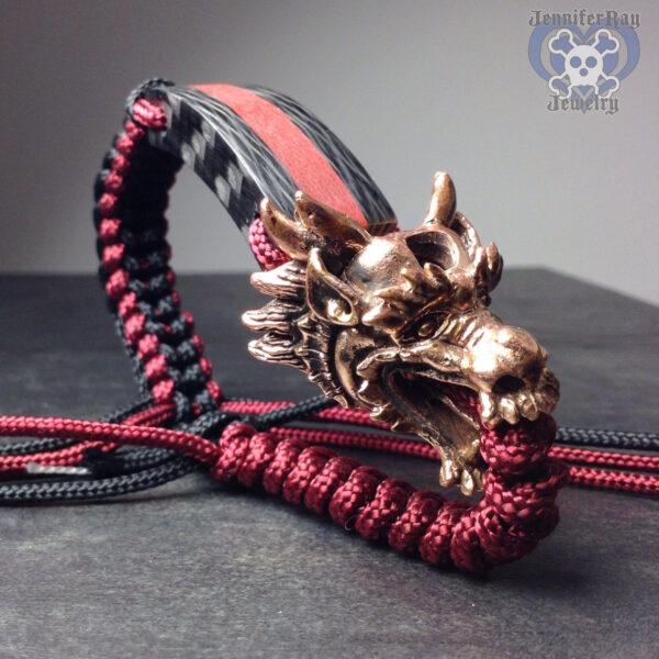 dragon carbon fiber bracelet