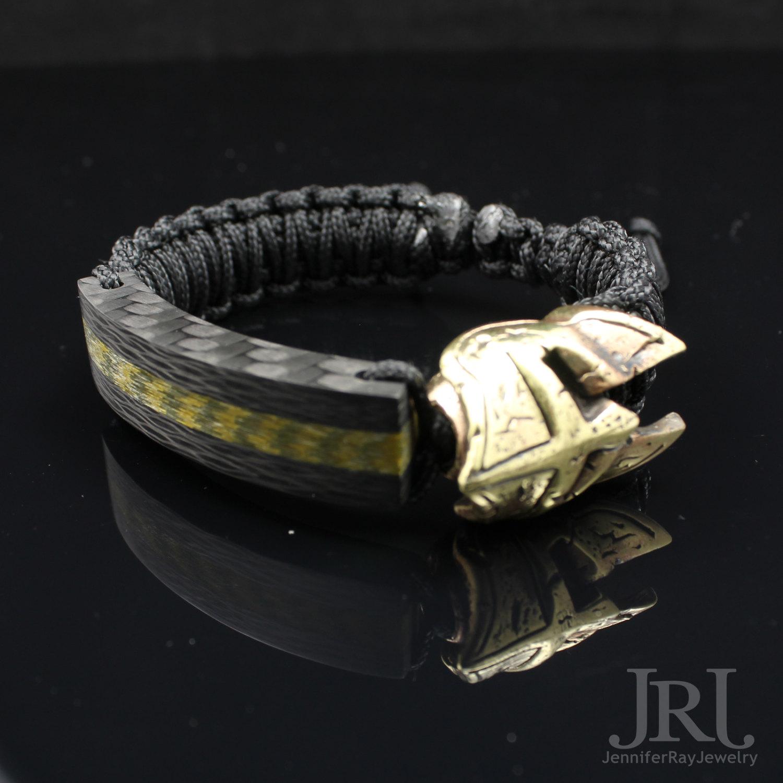 Spartan Gold Core Carbon Fiber Bracelet