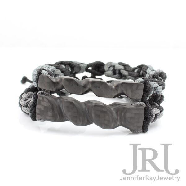carved carbon fiber bracelet