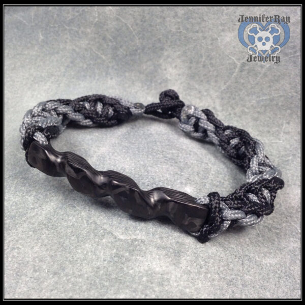 hand twisted carbon bracelet